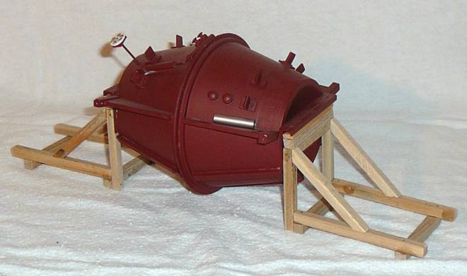 mit Holzgestell für auf einen Tieflader -ohne Zugmaschine und Tieflader- (Eigenbau/Self-'s building)