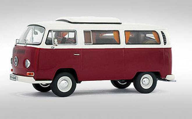 vw bus 1 43 t2 a kombi camping rot wei premium. Black Bedroom Furniture Sets. Home Design Ideas