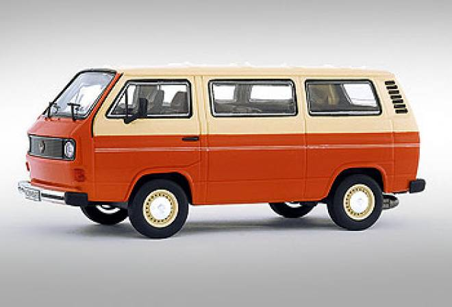 vw bus 1 43 t3 orange beige premium classixxs. Black Bedroom Furniture Sets. Home Design Ideas