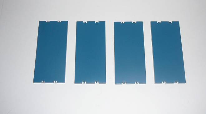 Base plate 11cm x 5cm  set / 4 piece - Sarens RAL 5009