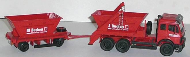 3achs Mit Absetzcontainer Und 2achs Container Anhänger Buchen Spiegel Angelebt Ohne Karton