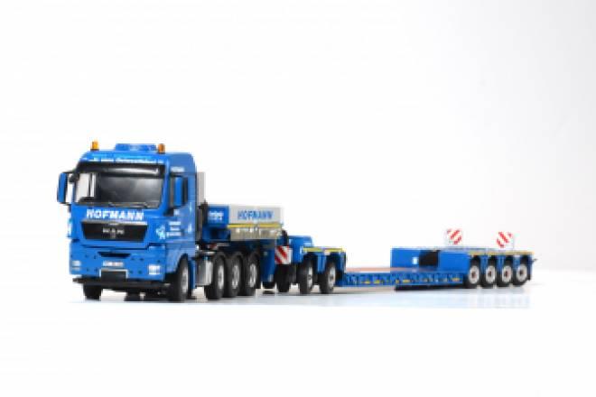 1:50: MAN TGX XLX 8x4 mit Flat-bed trailer, WSI 02-1497