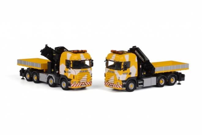 Set of 2 Scania R Highline Palfinger PK65002SH Without Jib and Palfinger PK92002 + Jib