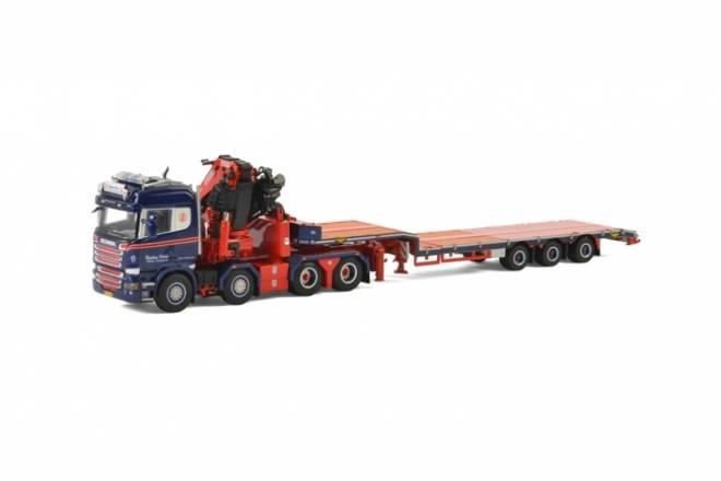 R Highline Semi Lowloader 3 axle + Fassi 1300 + Jib