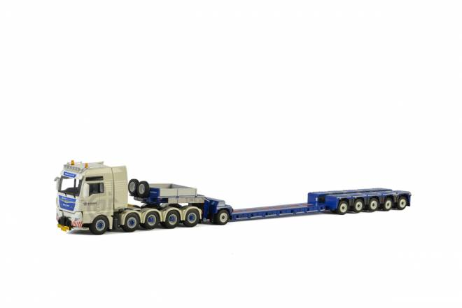 TGX XXL Euro 6 10x4 Nooteboom 5 axle Euro-PX + Dolly 1 axle (without load)