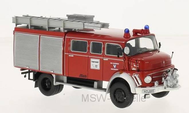 L 911 Metz B/36 Fire Truck, rot, Lang mit Rolltor, 1981