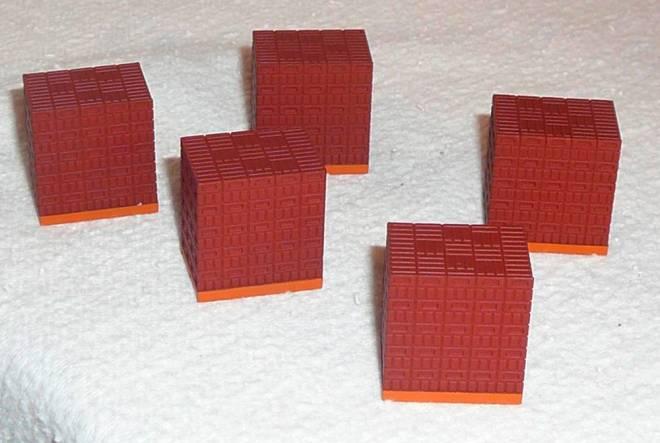 Ladegut Steine auf 5 Paletten in braun