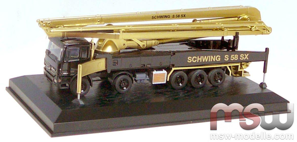 model conrad schwing mercedes actros s 58 sx 2 3 schwarz. Black Bedroom Furniture Sets. Home Design Ideas