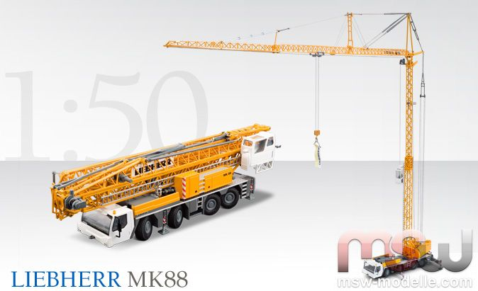 liebherr truck crane 4 axle 1 50 mk 88 mobilkran 1. Black Bedroom Furniture Sets. Home Design Ideas