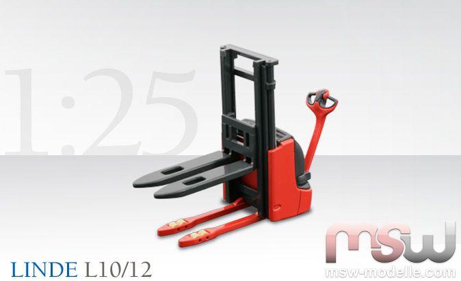 linde gabelstapler 1 25 l10 12 hochhubwagen conrad 2606 6. Black Bedroom Furniture Sets. Home Design Ideas