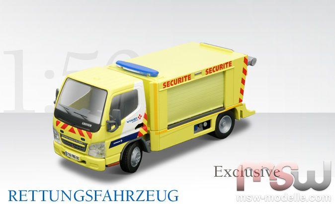 1 50 mitsubishi fuso safety car corfiroute duplex a86 tunnel rettungsfahrzeug transporter. Black Bedroom Furniture Sets. Home Design Ideas