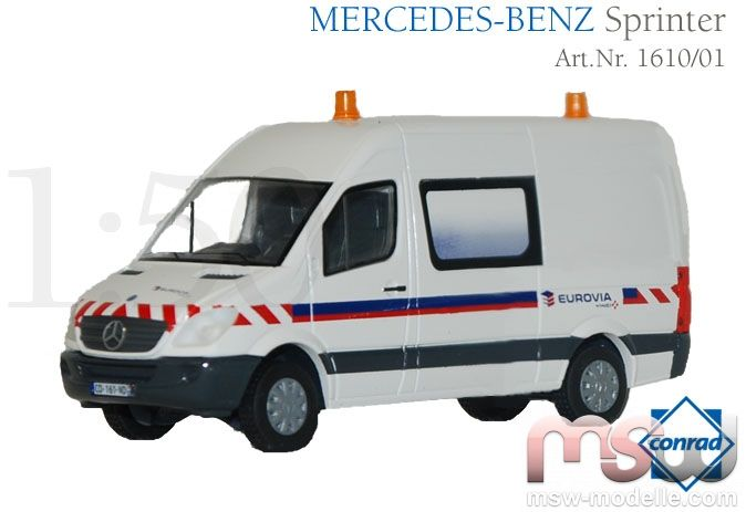 mercedes transporter 1 50 benz sprinter eurovia conrad. Black Bedroom Furniture Sets. Home Design Ideas