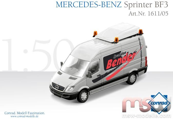 modell conrad mercedes sprinter bf3 schwerlastverkehr. Black Bedroom Furniture Sets. Home Design Ideas