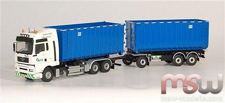 1 50 man tga xxl motorwagen mit hakenarm container sita. Black Bedroom Furniture Sets. Home Design Ideas