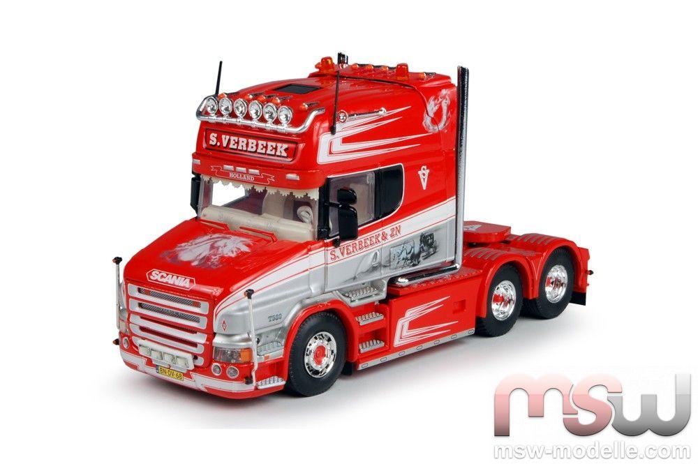 Modell: Tekno Scania T-serie Topline Solozugmaschine 3achs 1:50