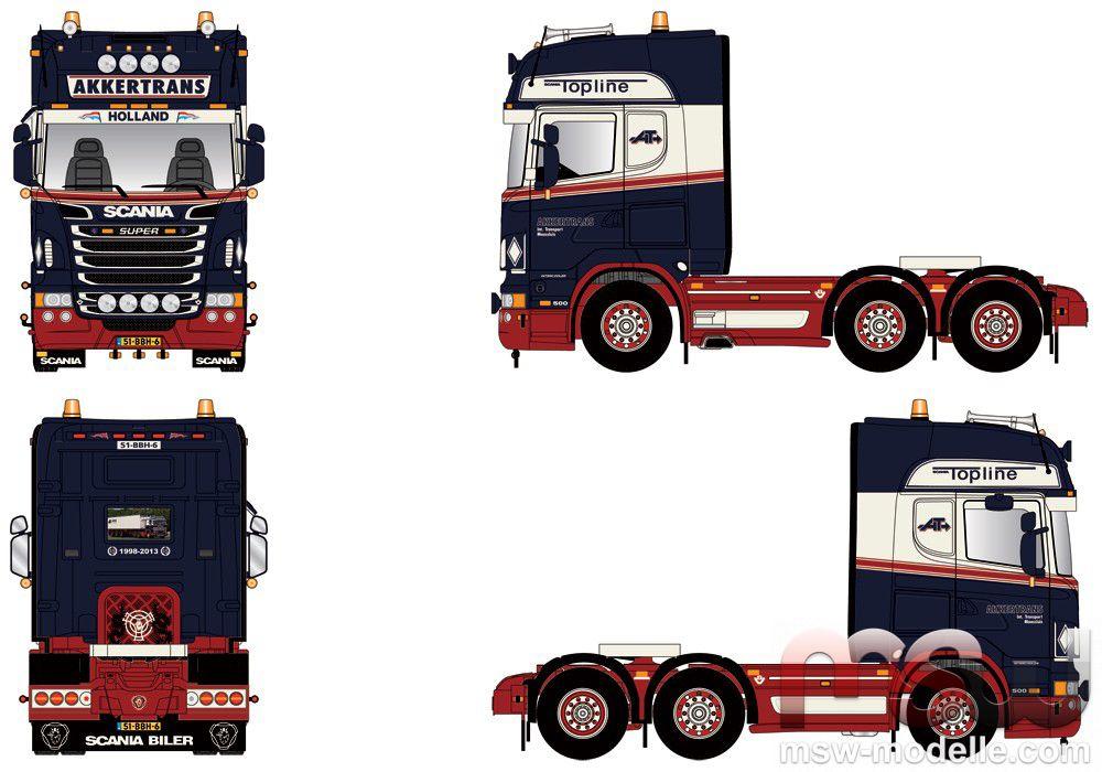 1 50 Scania R Serie Topline Solozugmaschine 3achs Tekno