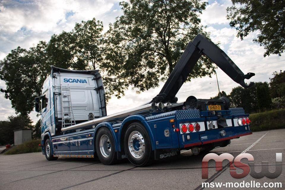 1:50: Scania S-serie S730 Highline Motorwagen mit Hakenarm Container ...