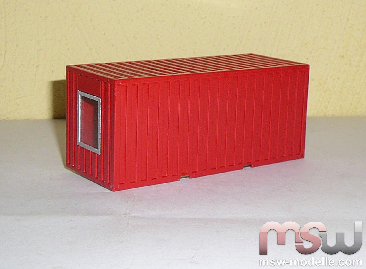 Msw Zubehör Baucontainer Wohncontainer Rot Msw Zubehör
