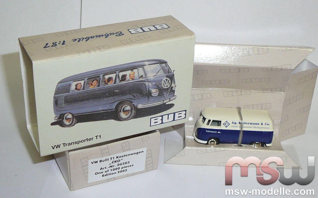 Model: BUB VW Bulli -CKO- Farbe blau-grau Box wagon 1:87