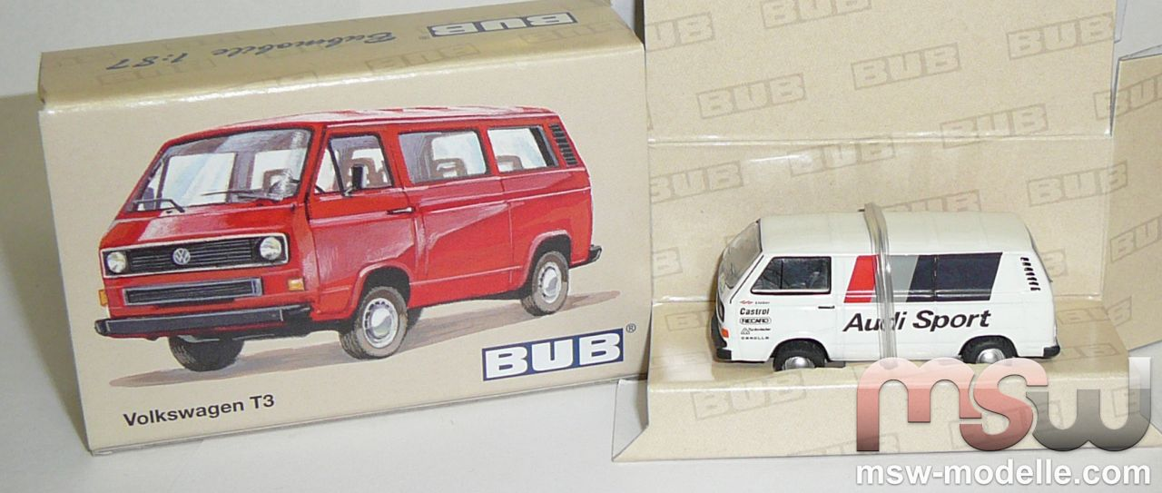 vw bus 1 87 t3 audi sport bub 09202. Black Bedroom Furniture Sets. Home Design Ideas