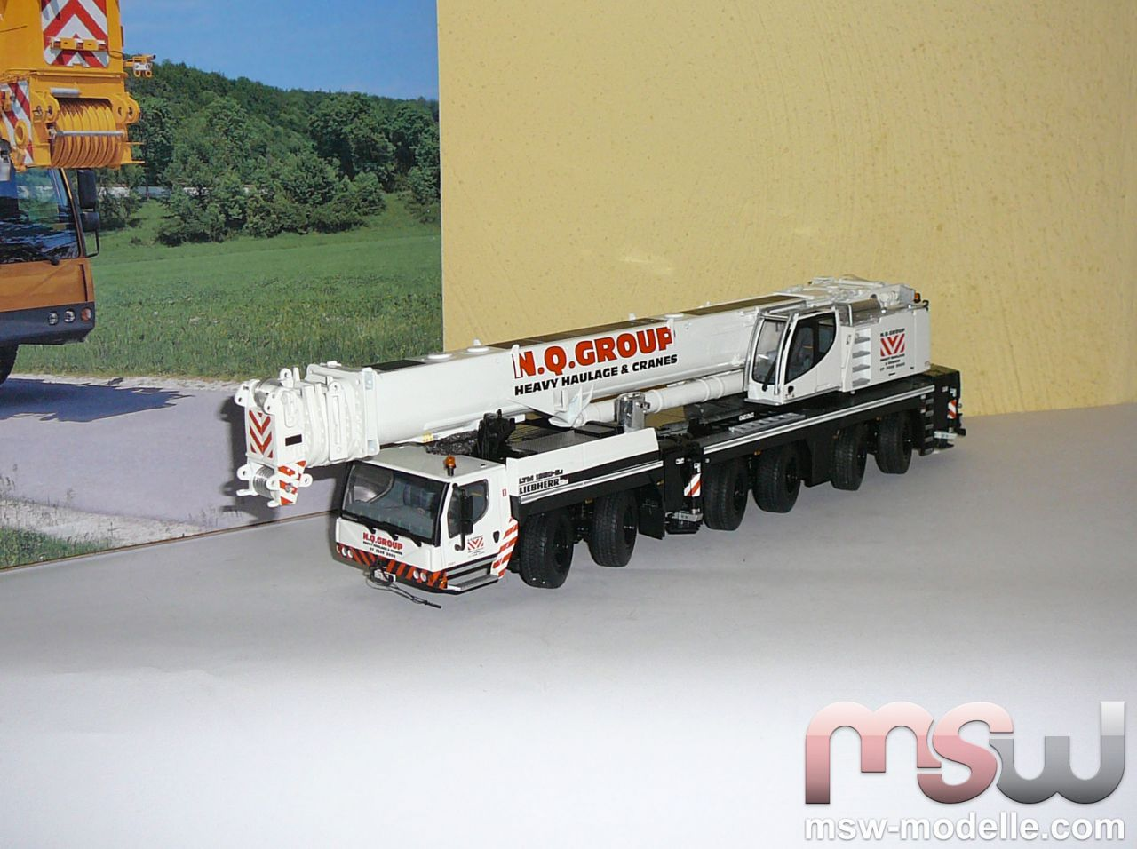 model wsi liebherr ltm 1350 6 1 truck crane 6 axle 1 50. Black Bedroom Furniture Sets. Home Design Ideas
