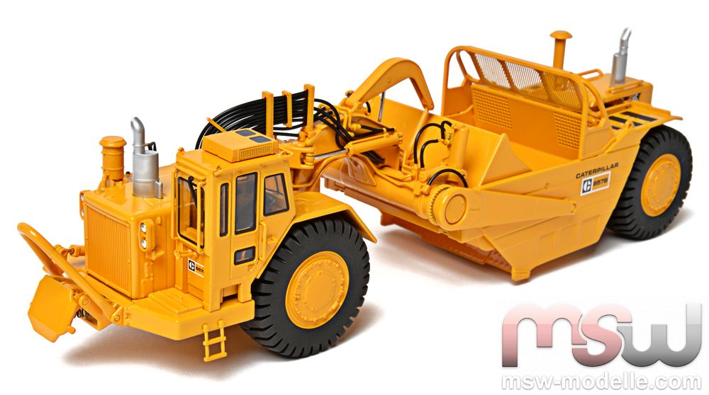 mod le ccm cat cat 657b wheel tractor racloir 1 48. Black Bedroom Furniture Sets. Home Design Ideas