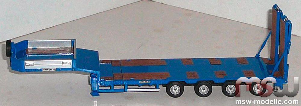 1 50 Auflieger Goldhofer Tieflader 4achs In Blau 295 296