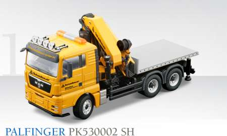 TGX 3achs mit Ladebrücke und PK53002 SH Palfinger Ladekran