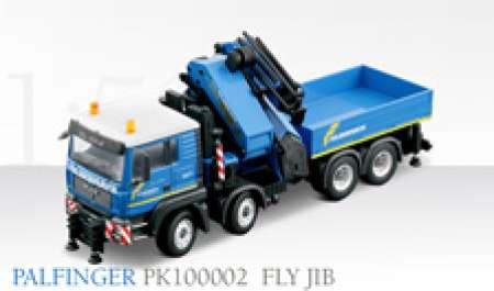 TGA 4achs mit PK100002 Palfingerkran und Armverlängerung
