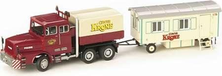 LKW mit Wohnanhänger Circus Krone