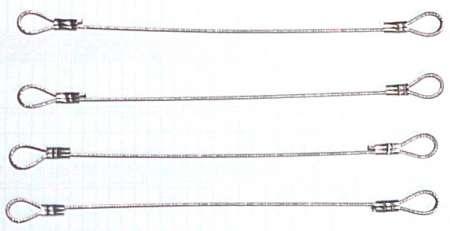 Anschlagseile 4er Set (Drahtseile länge 12 cm)