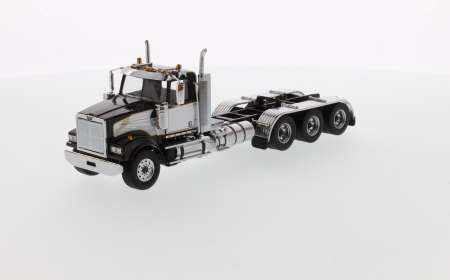 4900 SF Day Cab Tridem Tractor - Black cab with white deco