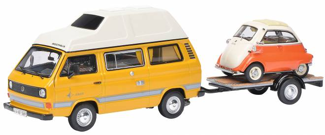 T3 Joker Campingbus mit Anhänger & BMW Isetta