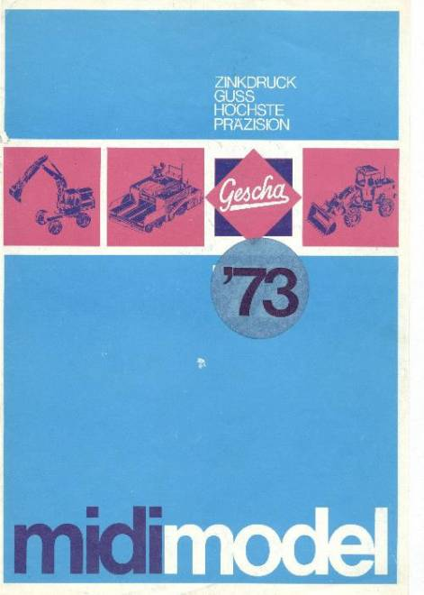 Farbkatalog 1973, DIN A4, 8-seitig, 18 Abb. (z. B. Merc. Sattelschlepper m. Tiefl., O&K MH6 usw.) (Farb Kopie)