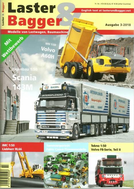 Lastwagen, Baumaschinen und Krane im Modell -