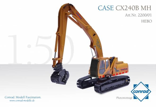 Case CX240B MH Hydraulik mit Metallketten