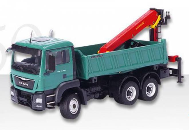 man crane 1 50 tgs m 6x6 allrad kipper mit palfinger kran conrad 77223 0. Black Bedroom Furniture Sets. Home Design Ideas