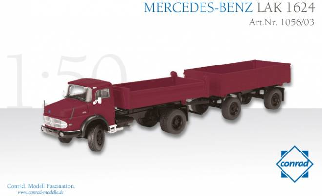 Benz LAK 1624 Rundhauber 2achs mit 2achs Anhänger