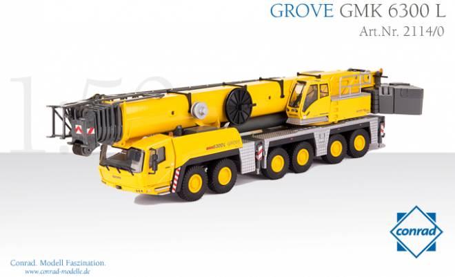 All-Terrain Kran GMK 6300-L, inkl. Auslegerverlängerung