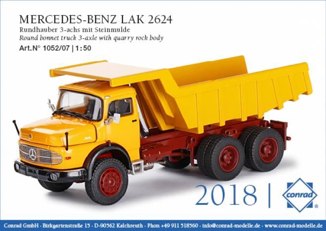 Benz  LAK 2624 Rundhauber 3-achs mit Steinmulde Ral. 1007