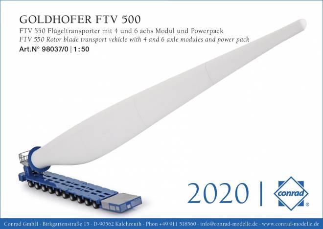 FTV 550 Flügeltransporter mit 4 und 6achs Modul und Powerpack