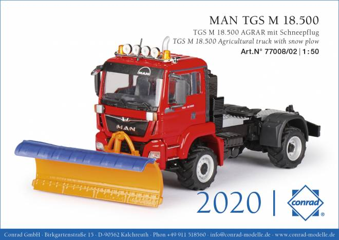 TGS M 18.500 Agrar-Truck mit Schneepflug