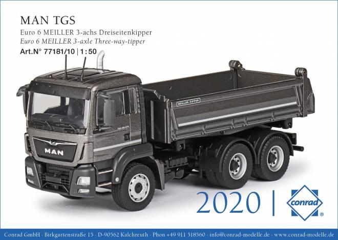 TGS Euro 6c MEILLER 3-achs Dreiseitenkipper