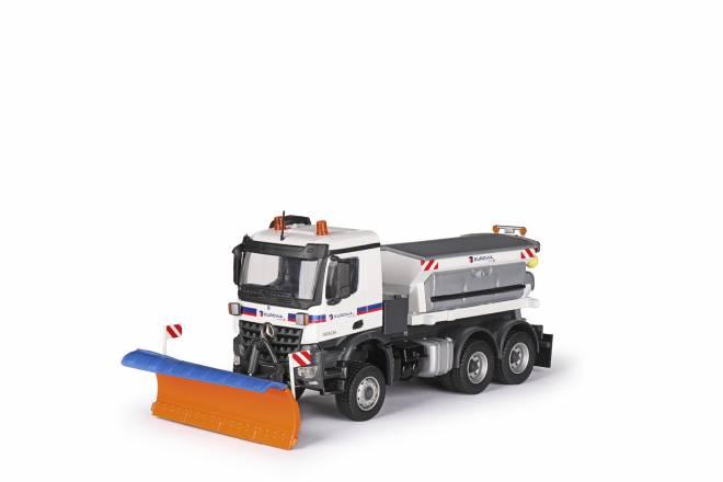 BENZ AROCS Winterdienst 3-achs mit Streuaufbau und Schneeschild