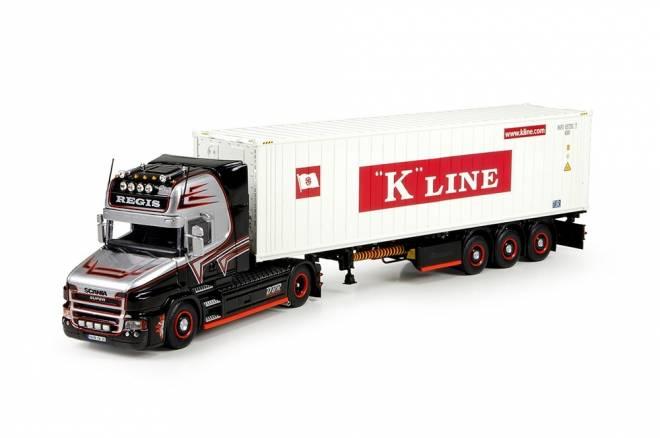 T5 Topline mit container semitrailer und 40ft container