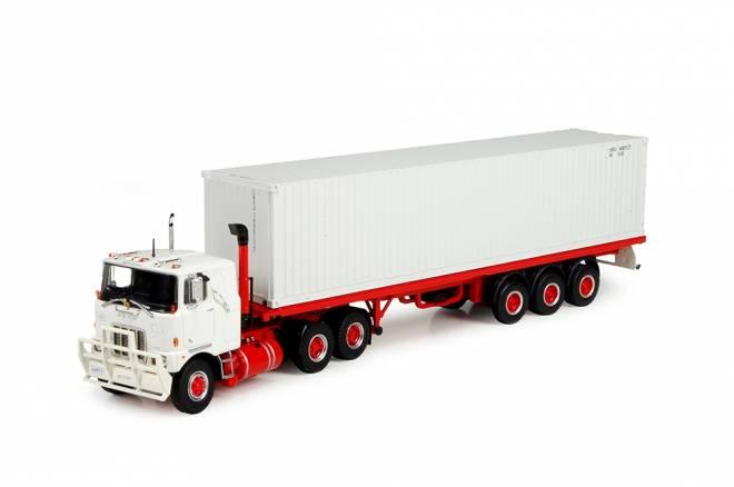 F700 6x4 mit flachem Anhänger  40ft container