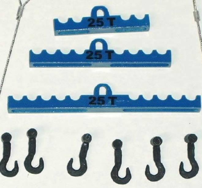 Set klein mit 6 Haken Farbe blau