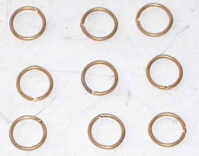 Messingringe 8mm (9 Stück) für