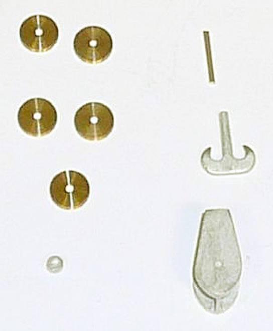Kranhaken mit 5 Rollen als Bausatz /Kit (Bohrung 1,5 und 2,5)