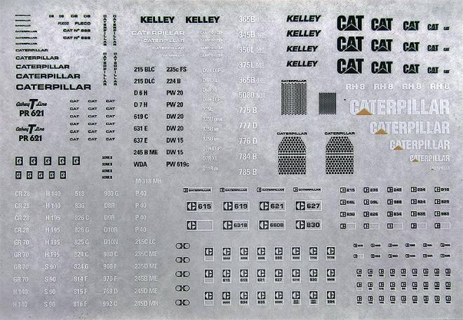 Caterpillar, D8, D9, 215 BLC, 235c FS, CAT, 615, 621, Kelley, 12 G, D4D, 768, D5, 936, 594, 12F, 980B, D9H, 224, 245, usw. (...